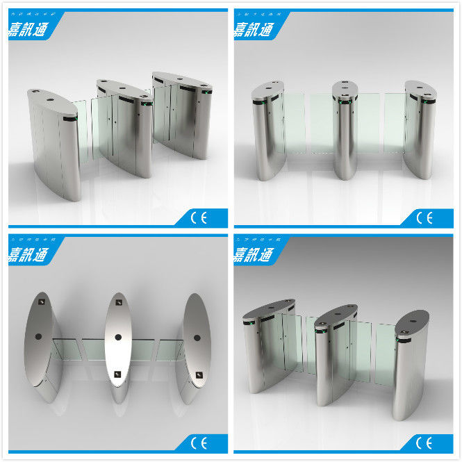 Stainless Steel Access Control Turnstiles , Sliding Turnstile Security Systems