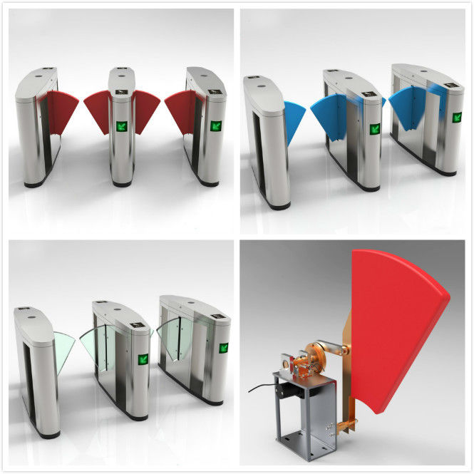 RFID Turnstiles Flap Gate Barrier , Automatic Optical Turnstile Access Control