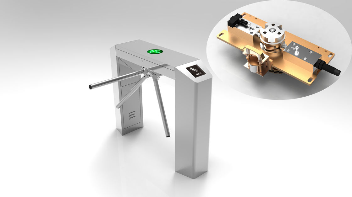 Bridge Type Two Way Tripod Turnstile Gate , Waist Height Turnstile Access Control