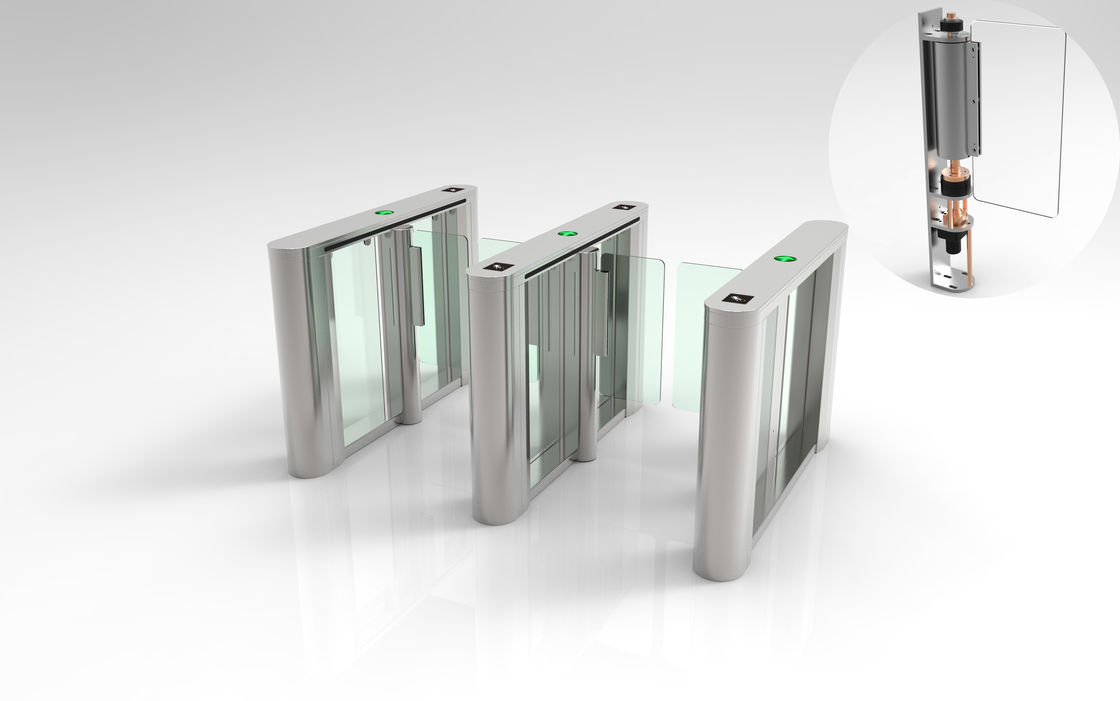 Arcrylic Wings Tripod Turnstile Gate , 30W Entrance Barrier Systems For Gym